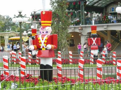 Photo illustrating Magic Kingdom - Christmas in Town Square
