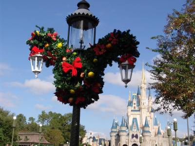 Photo illustrating Magic Kingdom - Mickey wreathes
