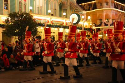 Photo illustrating Christmas at the Magic Kingdom