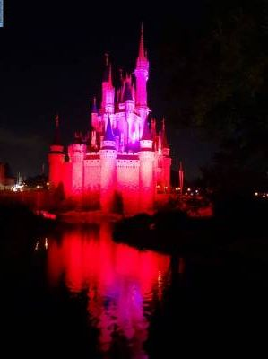 Photo illustrating Magic Kingdom - Cinderella Castle at night