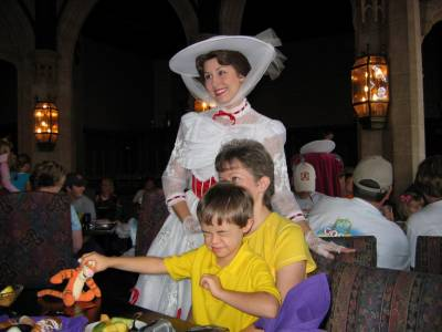 Cinderella's Castle with Mary Poppins photo