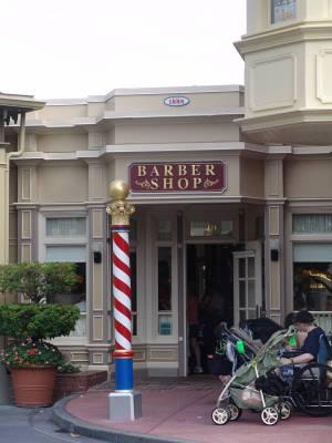 Photo illustrating <font size=1>Magic Kingdom - Barber Shop