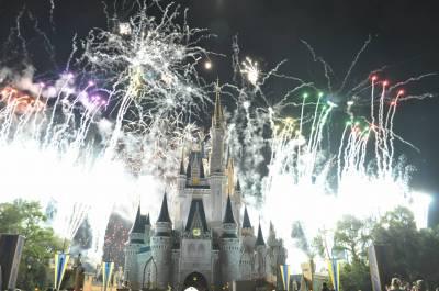Photo illustrating <font size=1>Magic Kingdom- Fireworks