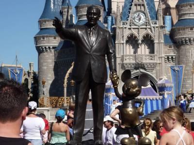 Photo illustrating <font size=1>Magic Kingdom- Around the Partners Statue