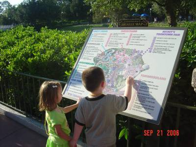 Photo illustrating <font size=1>Magic Kingdom - Map of the Park