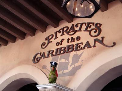 Photo illustrating <font size=1>Magic Kingdom - Pirates of the Caribbean sign