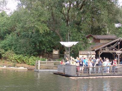 Magic Kingdom - rafts to Tom Sawyer Island photo