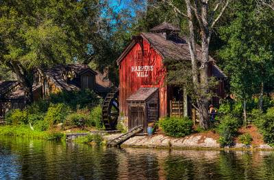 Photo illustrating Frontierland -Tom Sawyers Island