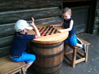 Checkers at Tom Sawyers Island Fort