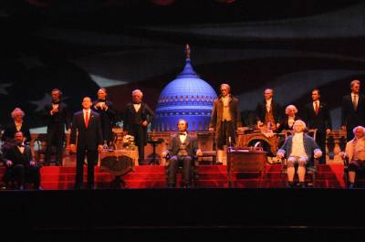 Photo illustrating <font size=1>Hall of Presidents