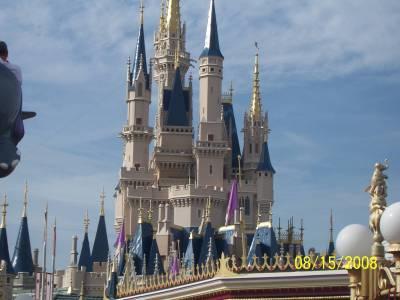 Photo illustrating <font size=1>Magic Kingdom- Cinderella Castle From Fantasyland