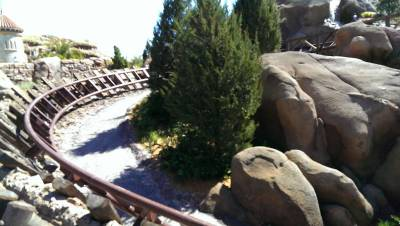 Photo illustrating <font size=1>Seven Dwarfs Mine Train Construction
