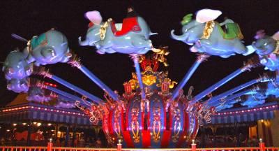 Photo illustrating <font size=1>Dumbo at Night - Magic Kingdom