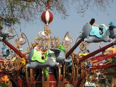Photo illustrating <font size=1>Magic Kingdom - Dumbo The Flying Elephant