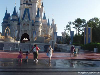 Photo illustrating <font size=1>Magic Kingdom - Cinderella Castle