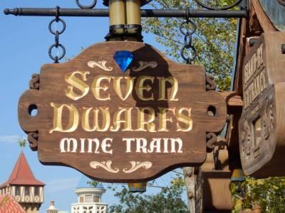 Photo illustrating Seven Dwarfs Mine Train