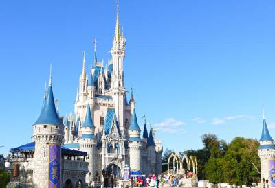 Photo illustrating Cinderella Castle on a Sunny Afternoon