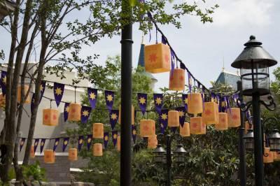 Photo illustrating Fantasyland - Rapunzel Rest Area Lantern Decoration