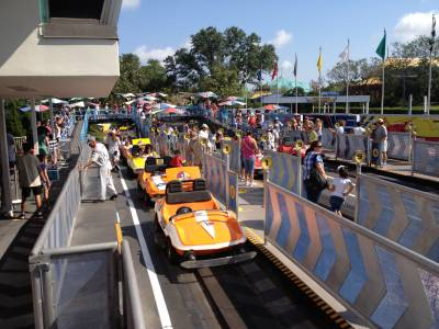 Photo illustrating Tomorrowland Speedway