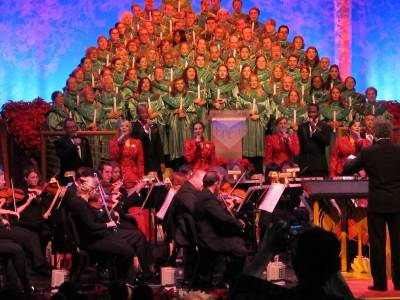 Photo illustrating Epcot - Candlelight Processional