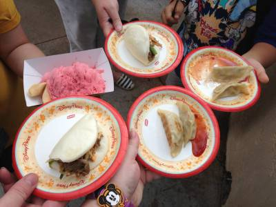 Photo illustrating Plates at the Epcot Food and Wine Festival