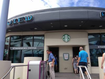 Photo illustrating <font size=1>New Starbucks at EPCOT