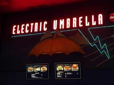 Photo illustrating <font size=1>Epcot - Future World - Electric Umbrella