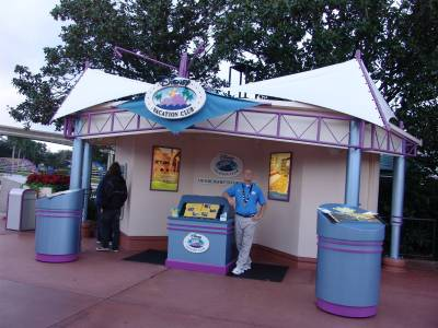 Photo illustrating Epcot - DVC booth