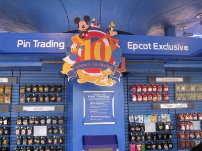Photo illustrating Epcot - Future World - Pin Central