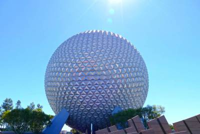 Photo illustrating Spaceship Earth in the Sun
