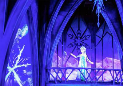 Photo illustrating Queen Elsa at Frozen Ever After