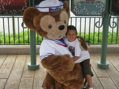 Photo illustrating Epcot - World Showcase - Duffy the Disney Bear