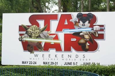 Photo illustrating <font size=1>Star Wars Weekend Sign