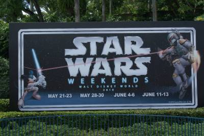 Photo illustrating Hollywood Studios - Star Wars Weekends Sign