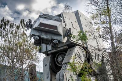 Photo illustrating AT-AT at Star Tours