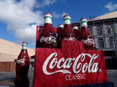 Photo illustrating Hollywood Studios - Coca Cola bottles