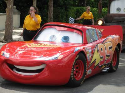 Photo illustrating <font size=1>Disney Hollywood Studios Lightning McQueen