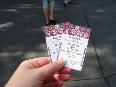 Photo illustrating <font size=1>Hollywood Studios - Toy Story Midway Mania fastpasses