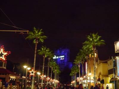 Photo illustrating <font size=1>Hollywood Studios - Tower of Terror at night