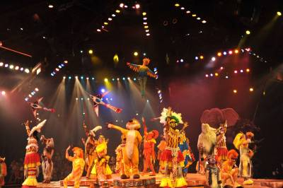 Photo illustrating <font size=1>Finale at the Festival of the Lion King