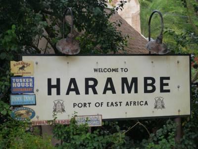 Photo illustrating <font size=1>Animal Kingdom - Harambe sign