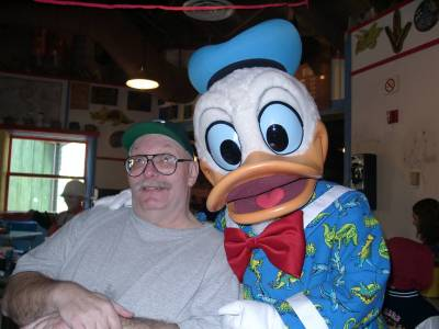 Photo illustrating Dad and Donald at Restaurantosaurus