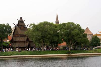 Photo illustrating <font size=1>Norway Pavilion from a Friendship Boat