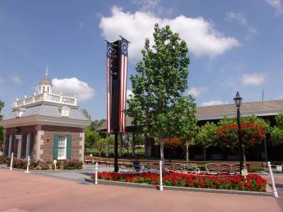 Photo illustrating <font size=1>Epcot - American Gardens Theatre