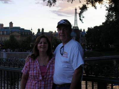 Photo Contributed by: Eeyore Tattoo Photo Description: I love this picture of us with France in the background with the setting sun.