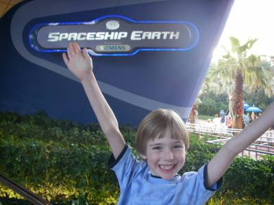Photo illustrating Epcot Spaceship Earth