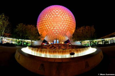 Photo illustrating Spaceship Earth at Night
