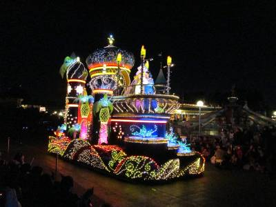 Photo illustrating Tokyo Disneyland Parade