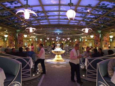 Photo illustrating Disney Dream - Enchanted Garden at Dinner