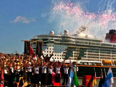 Photo illustrating Disney Dream - Christening Ceremony Fireworks